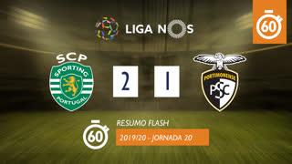Liga NOS (20ªJ): Resumo Flash Sporting CP 2-1 Portimonense