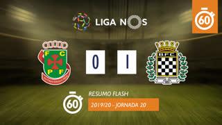Liga NOS (20ªJ): Resumo Flash FC P.Ferreira 0-1 Boavista FC