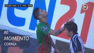 Marítimo M., Jogada, Correa aos 80'