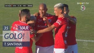 GOLO! Santa Clara, Thiago Santana aos 35', Santa Clara 1-0 Vitória SC