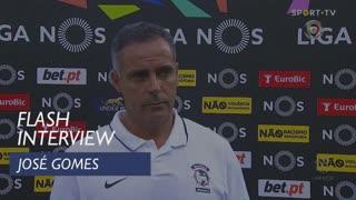 José Gomes deu os parabéns aos seus jogadores