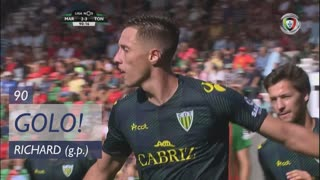 GOLO! CD Tondela, Richard aos 90', Marítimo M. 2-3 CD Tondela