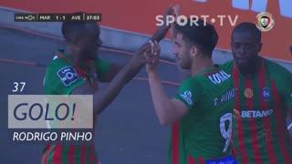 GOLO! Marítimo M., Rodrigo Pinho aos 37', Marítimo M. 1-1 CD Aves