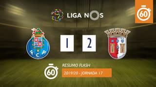I Liga (17ªJ): Resumo Flash FC Porto 1-2 SC Braga