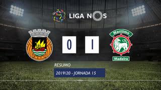 Liga NOS (15ªJ): Resumo Rio Ave FC 0-1 Marítimo M.
