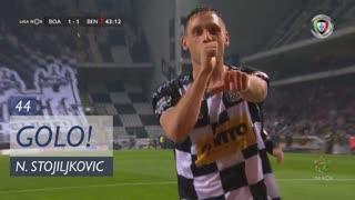 GOLO! Boavista FC, N. Stojiljkovic aos 44', Boavista FC 1-1 SL Benfica