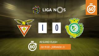 Liga NOS (31ªJ): Resumo Flash CD Aves 1-0 Vitória FC
