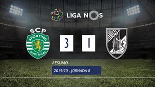 Liga NOS (8ªJ): Resumo Sporting CP 3-1 Vitória SC