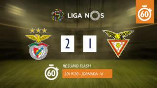 Liga NOS (16ªJ): Resumo Flash SL Benfica 2-1 CD Aves