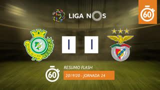 Liga NOS (24ªJ): Resumo Flash Vitória FC 1-1 SL Benfica