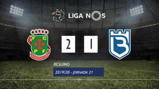 Liga NOS (27ªJ): Resumo FC P.Ferreira 2-1 Belenenses SAD