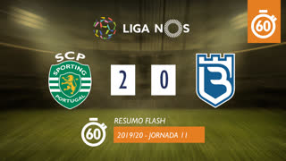 Liga NOS (11ªJ): Resumo Flash Sporting CP 2-0 Belenenses SAD