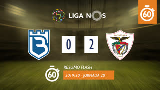 I Liga (20ªJ): Resumo Flash Belenenses SAD 0-2 Santa Clara