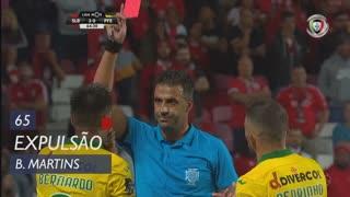 FC P.Ferreira, Expulsão, Bernardo Martins aos 65'
