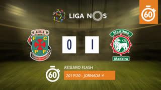 Liga NOS (4ªJ): Resumo Flash FC P.Ferreira 0-1 Marítimo M.