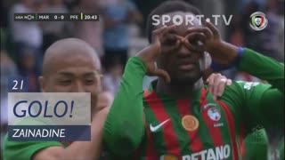 GOLO! Marítimo M., Zainadine aos 21', Marítimo M. 1-0 FC P.Ferreira