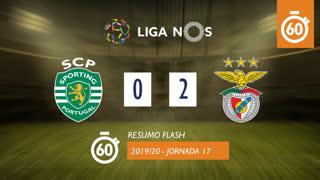 Liga NOS (17ªJ): Resumo Flash Sporting CP 0-2 SL Benfica