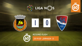 I Liga (13ªJ): Resumo Flash Rio Ave FC 1-0 Gil Vicente FC