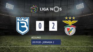 Liga NOS (2ªJ): Resumo Belenenses SAD 0-2 SL Benfica
