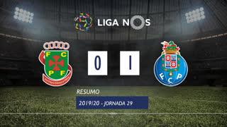 Liga NOS (29ªJ): Resumo FC P.Ferreira 0-1 FC Porto