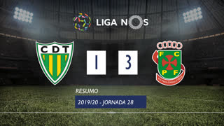 Liga NOS (28ªJ): Resumo CD Tondela 1-3 FC P.Ferreira