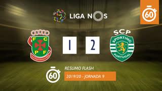 Liga NOS (9ªJ): Resumo Flash FC P.Ferreira 1-2 Sporting CP