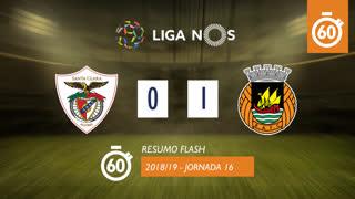 Liga NOS (16ªJ): Resumo Flash Santa Clara 0-1 Rio Ave FC