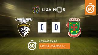 Liga NOS (16ªJ): Resumo Flash Portimonense 0-0 FC P.Ferreira