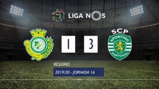 Liga NOS (16ªJ): Resumo Vitória FC 1-3 Sporting CP