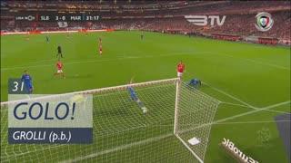 GOLO! SL Benfica, Grolli (p.b.) aos 31', SL Benfica 3-0 Marítimo M.