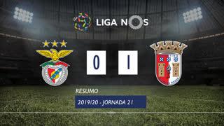 Liga NOS (21ªJ): Resumo SL Benfica 0-1 SC Braga