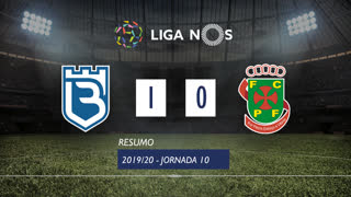 Liga NOS (10ªJ): Resumo Belenenses SAD 1-0 FC P.Ferreira