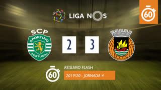 Liga NOS (4ªJ): Resumo Flash Sporting CP 2-3 Rio Ave FC