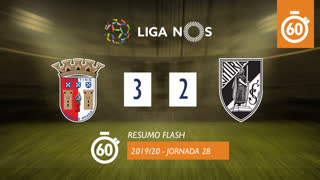 I Liga (28ªJ): Resumo Flash SC Braga 3-2 Vitória SC