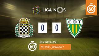 Liga NOS (7ªJ): Resumo Flash Boavista FC 0-0 CD Tondela