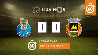 I Liga (24ªJ): Resumo Flash FC Porto 1-1 Rio Ave FC