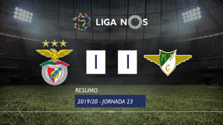 Liga NOS (23ªJ): Resumo SL Benfica 1-1 Moreirense FC
