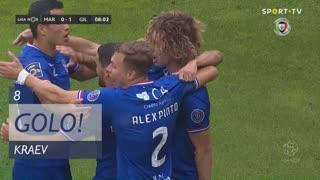 GOLO! Gil Vicente FC, Kraev aos 8', Marítimo M. 0-1 Gil Vicente FC