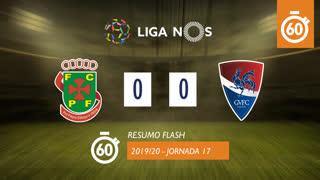 Liga NOS (17ªJ): Resumo Flash FC P.Ferreira 0-0 Gil Vicente FC
