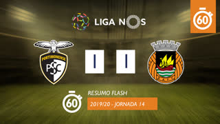 Liga NOS (14ªJ): Resumo Flash Portimonense 1-1 Rio Ave FC