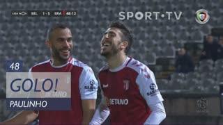 GOLO! SC Braga, Paulinho aos 48', Belenenses SAD 1-5 SC Braga