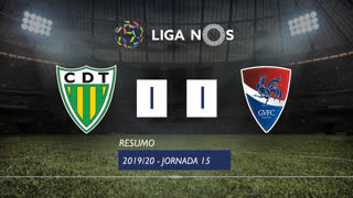 Liga NOS (15ªJ): Resumo CD Tondela 1-1 Gil Vicente FC