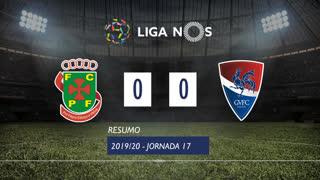 Liga NOS (17ªJ): Resumo FC P.Ferreira 0-0 Gil Vicente FC