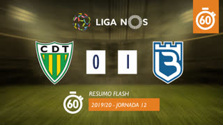 Liga NOS (12ªJ): Resumo Flash CD Tondela 0-1 Belenenses SAD