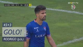 GOLO! Marítimo M., Rodrigo (p.b.) aos 45'+3', Marítimo M. 2-1 Gil Vicente FC