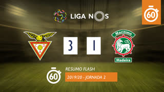 I Liga (2ªJ): Resumo Flash CD Aves 3-1 Marítimo M.