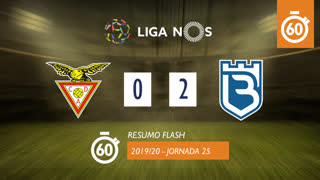 Liga NOS (25ªJ): Resumo Flash CD Aves 0-2 Belenenses SAD