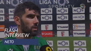 Liga (19ª): Flash Interview Neto