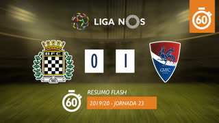 Liga NOS (23ªJ): Resumo Flash Boavista FC 0-1 Gil Vicente FC