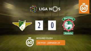 Liga NOS (24ªJ): Resumo Flash Moreirense FC 2-0 Marítimo M.